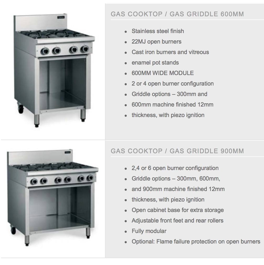 Cobra Gas Cooktops