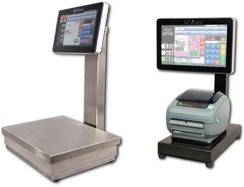 stainless steel retail Seafood scales Butcher scale the ezi scale i stainless steel by GaP Solutions