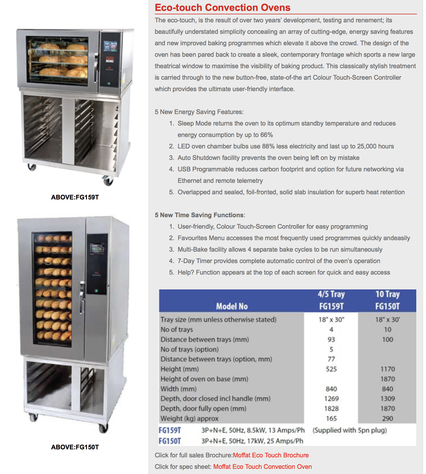 Turbofan Convection Eco Oven
